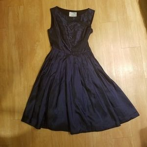 Modcloth Sapphire Vintage-Inspired Holiday Dress